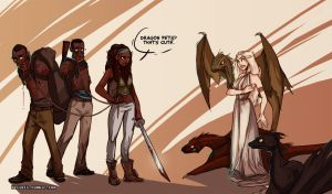 Michonne vs Daenerys by beiibis