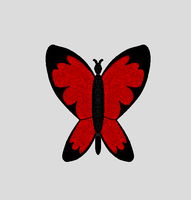 Original Art- Red Butterfly by Coraline15