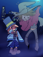 M_Scarecrow And Mad Hatter by pink-ninja