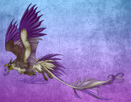 Collab: Griffin lineart Colored by JaneenSatone