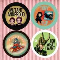 Comic Fiesta 11 Marvel badges by Annachuu