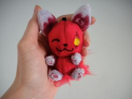 Firey Fox Keychain by WhittyKitty