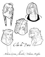 Clan de Paris Portraits inked by coda-leia