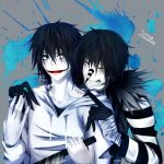 Laughing Jack X Jeff the Killer by settun