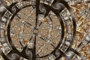 Spirals Spokes and Curves No. 2 by element90