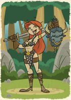 Red Sonja by tyrannus