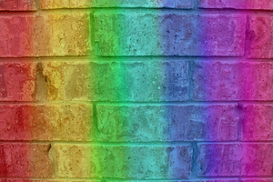 rainbow wall by Scilent-Toaster