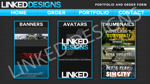 [WIP] Linked Designs - Website - Portfolio Page by DefiantArtz