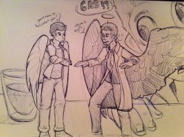 Shrinky Dinky Castiel by GTPanda