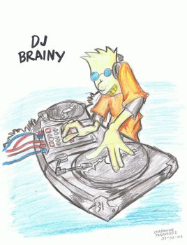 Hey Arnold:DJ Brainy by sketchpride