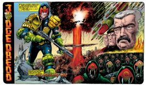 The Apocalypse War double page spread by tommullin