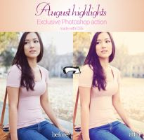August Highlights Photoshop Action by piximi