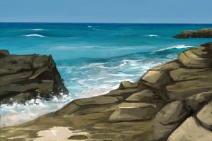 Nov 24th Speed Paint Study Porto Covo by charfade