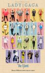 Lady Gaga Outfits - The Fame by Marisflowers