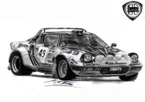Happy Birthday Luis Pagan, Lancia Stratos HF Rally by toyonda