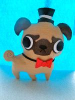 Fancy Pug Plush by KATxZombie
