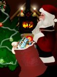 Santa and toys-PS Tennis by marthig