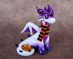 White Halloween Dragon by DragonsAndBeasties
