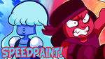 Steven Universe Ruby and Sapphire Speedpaint by DYW14