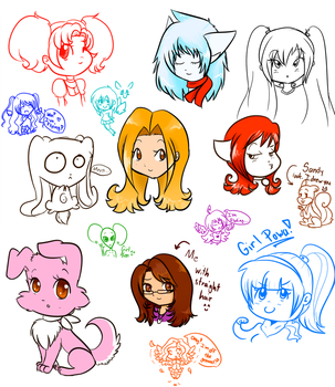 Sketches by animeloverMF