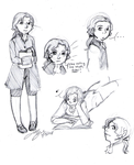 Young Hamilton sketches by Alexander-Rowe