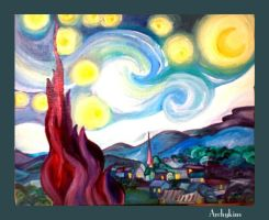 Starry Night-Painting by Archykins
