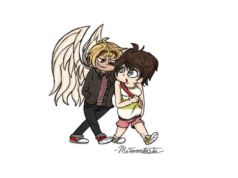 An Angelic Pair OC Commission by Mr-Toontastic