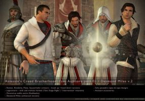 ACB_Ezio+Desmond.2 for XNALara by raccooncitizen
