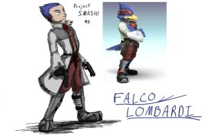 Project SMASH - Falco Lombardi by Krowjak