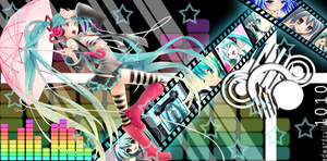 Feel the Beat -Miku Wallpaper- by EdwardCullen1010