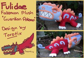 Fakemon plush 'Fulidae' designed by Torotix by SilkenCat