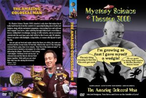 MST3K: Custom The Amazing Colossal Man DVD Cover by Bladez636