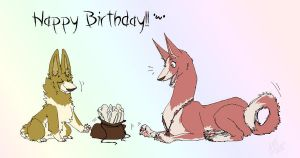 -belated- HappyB-Day Pencil!! by tricksterwolf13