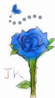 smartphone drawing - blue rose by jeoong94