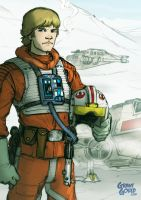Star Wars Illustrated ESB: LUKE SKYWALKER by grantgoboom
