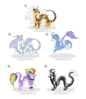 Adoptables: Fantasy Dragons by MySweetQueen