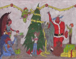 A Chaotic Underworld xmas .UD. by Deadgirl55