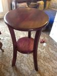 African Mahogany End Table by tntwooddesign