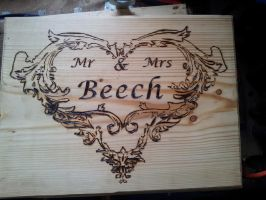 Wedding Nameplate by ArrowTurtle