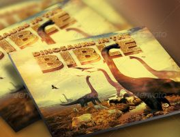 Dinosaurs in the Bible Church Flyer and CD Templa by loswl