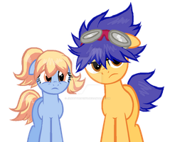 Ponified Fossil Fighters Champions Boy, and girl. by JamayThePony
