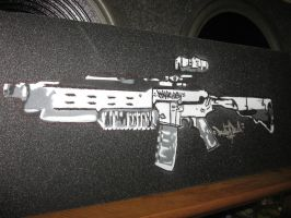 Assault rifle stencil grip by leoski8