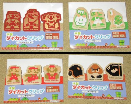 Mario Diecut Wood Clips Sets by avaneshop