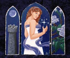 Arianrhod Triptych by Kittenpants