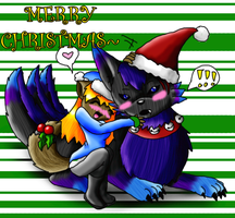 Merry Christmas - me and Romy by WigglyWolf