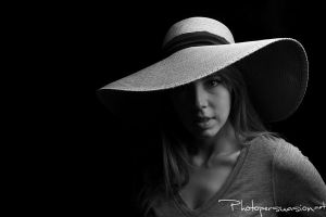 Black and White Hat by Photopersuasion