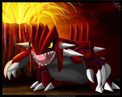Groudon Creator of Land by GeneralGibby