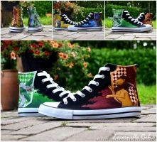 Harry Potter Houses Shoes by LacernellaRubra