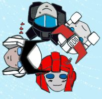 chibi prowl-Jazz-Ratchet-IH by Eri-chan89