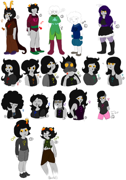 Homestuck adopts 6/18 by Onyx-Shard